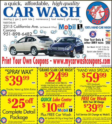 Corona Car Wash Printable Coupons