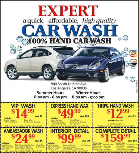 Expert Car Wash Printable Coupons